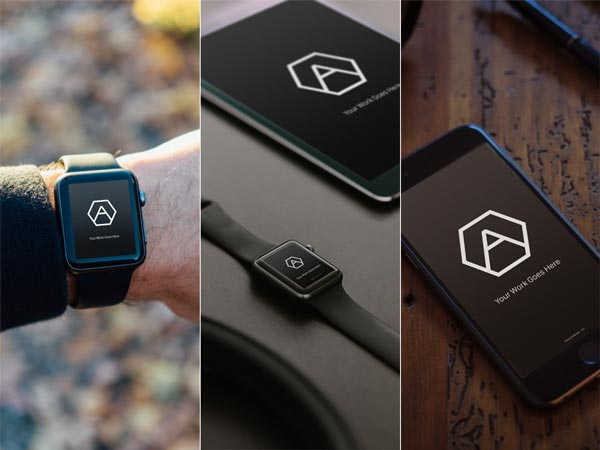 iPhone & Apple Watch Mockups