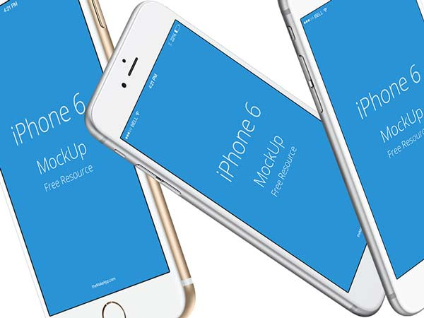 3 iPhone 6s Mockups