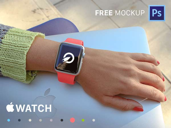 35 Apple Watch Mockups - PSD