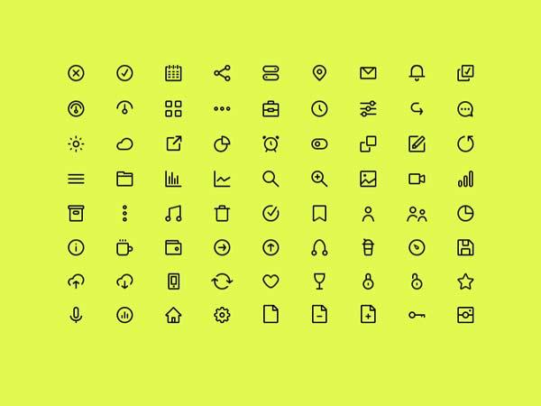 72 Line Icon Set