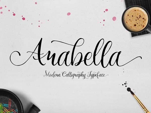 Arabella free calligraphy font designermill