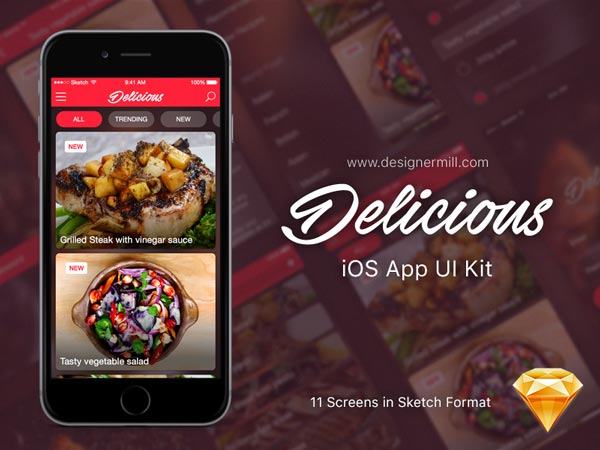 Delicious - Sketch UI Kit