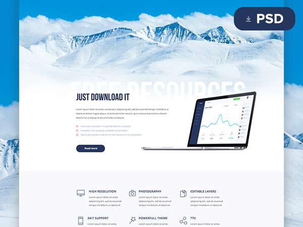 Enyo - Website PSD Template
