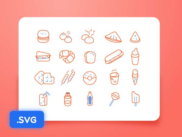 Food Icons - Sketch