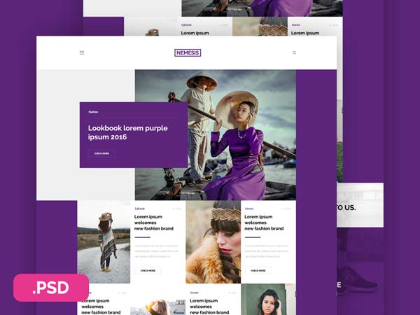 Nemesis - Free Website Template