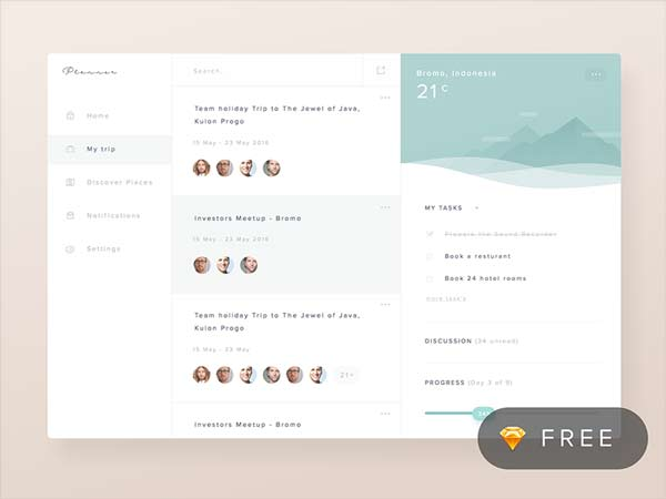 Planner Dashboard - Sketch Freebie