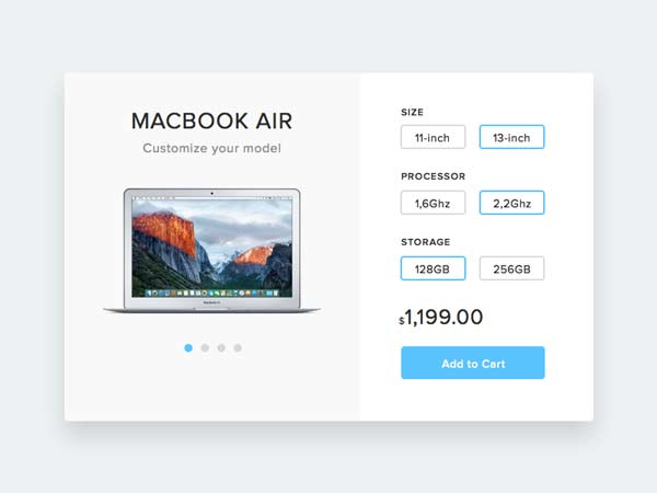 Product Customization - Sketch Freebie