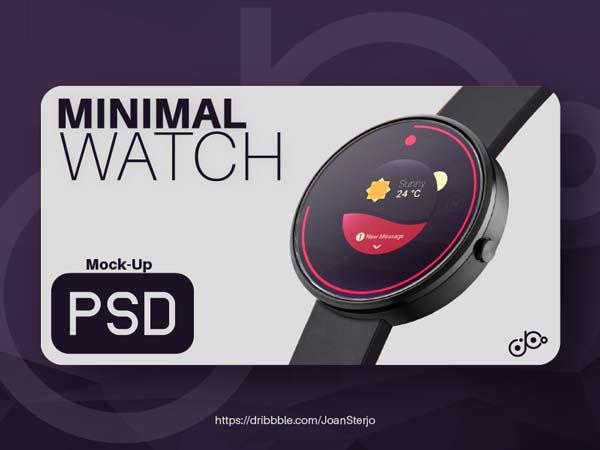 Smartwatch - Realistic PSD Mockup