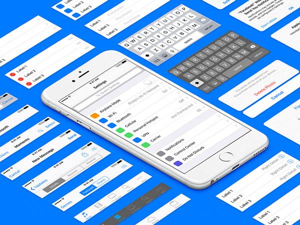 iOS 9 UI kit - Sketch Freebie