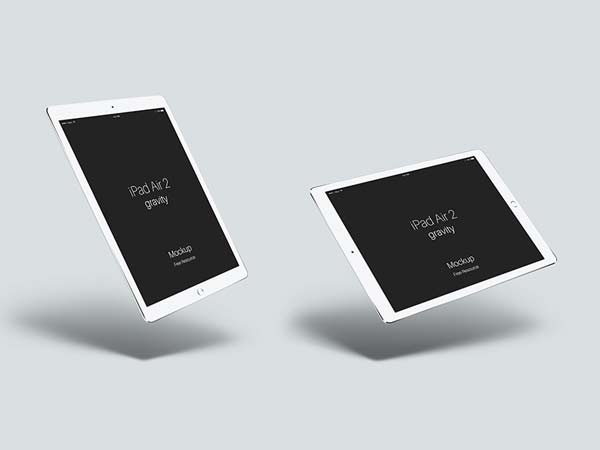 iPad Air 2 Gravity Mockup