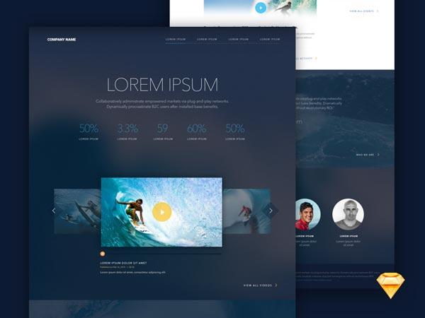 Landing Page - Sketch Freebie