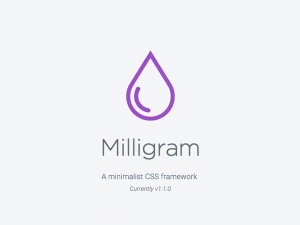 Milligram - Minimalist CSS Framework