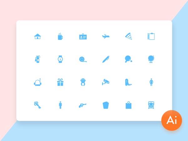 Mini Material - Free Icon Set