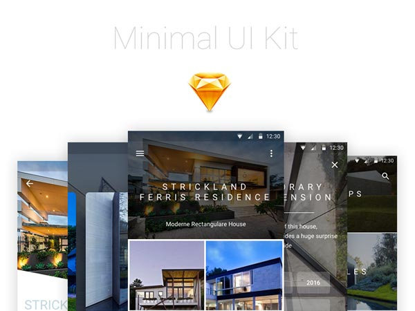 Minimal UI Kit - Sketch Freebie