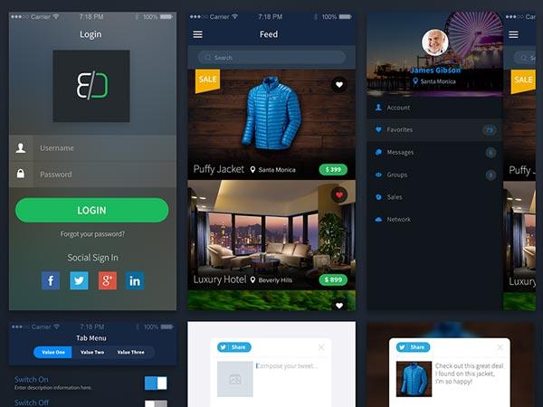 Sales app concept - PSD