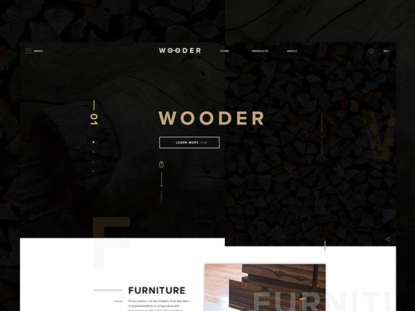 Wooder - PSD Website Template