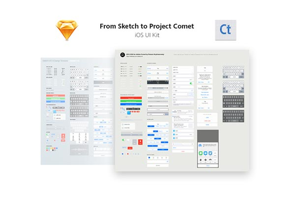 iOS UI Kit for Adobe Project Comet