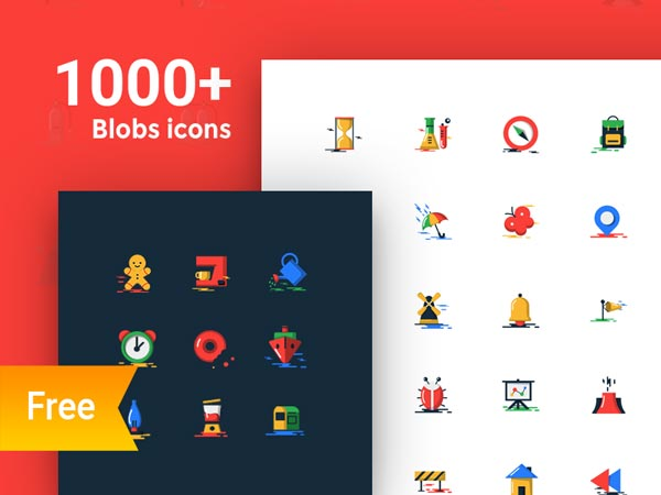 Blobs - 1000+ Free Flat Icons