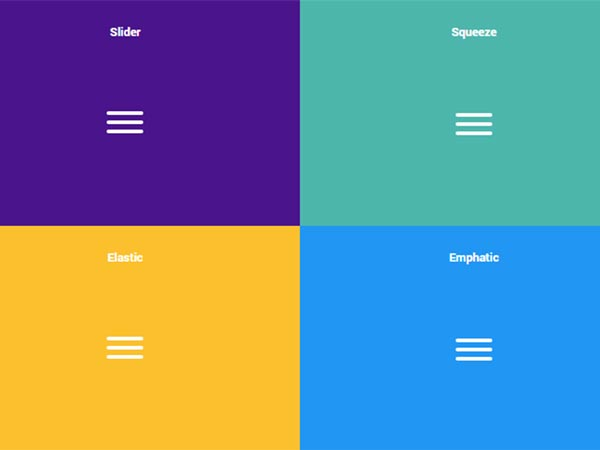 CSS-animated Hamburger Icons