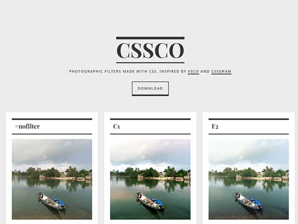 CSSCO - VSCO Filters in CSS