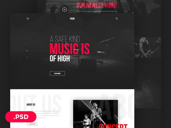 Faun - Music Website Template
