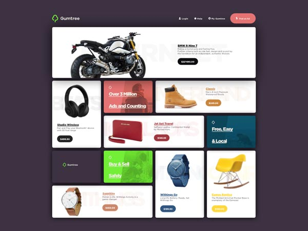 Gumtree Redesign - UI Kit
