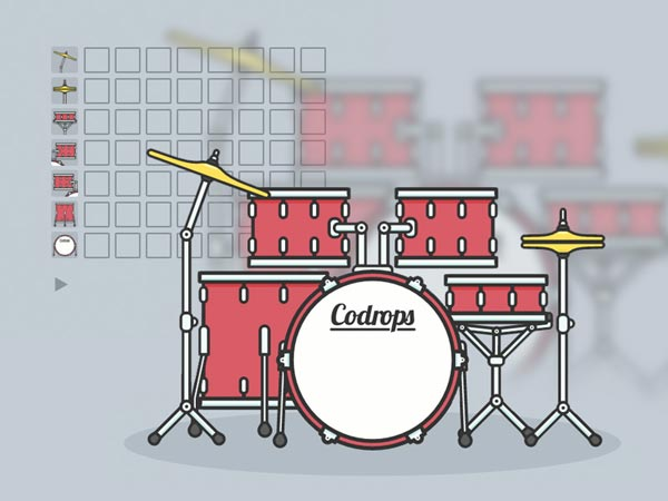 Interactive Animated SVG Drum Kit