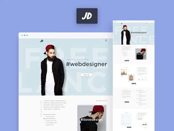 JD - One Page Website Template