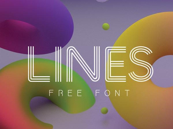 LINES - Free Font