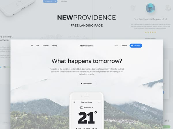 New Providence - Landing Page