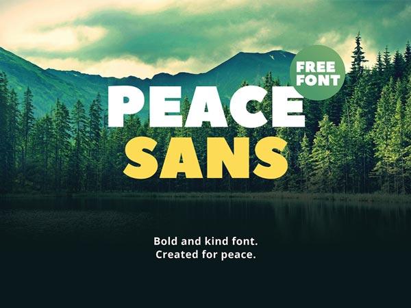 Peace Sans - Free Font