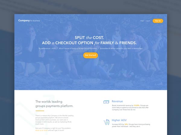 Simple Business Landing Page
