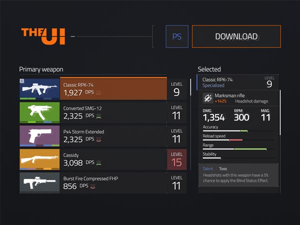 The Division - UI Kit