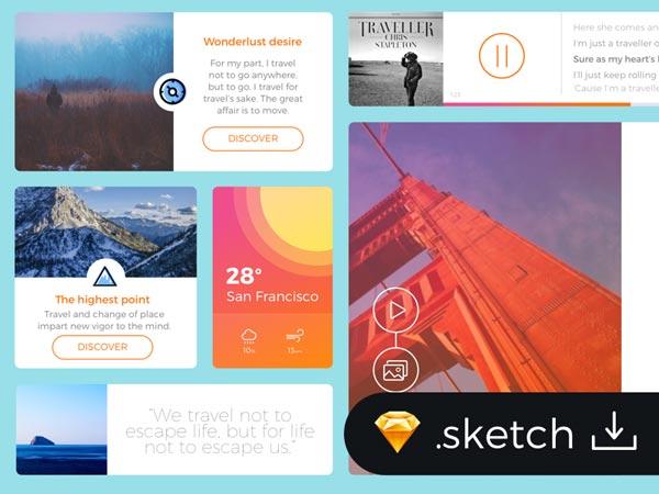 Travel Blog - UI Kit