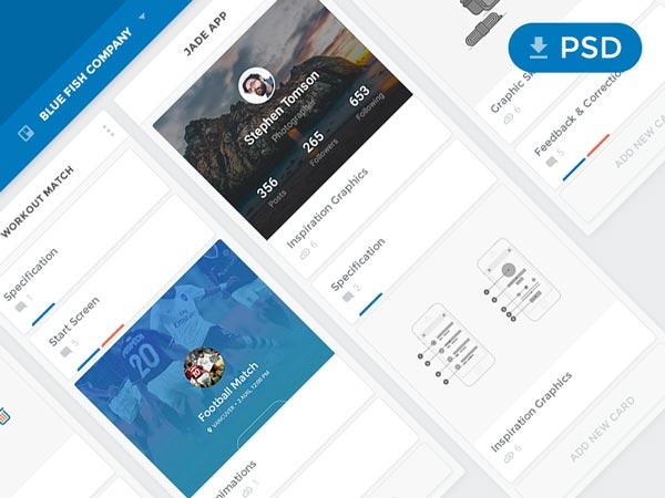 Trello Redesign Concept - PSD