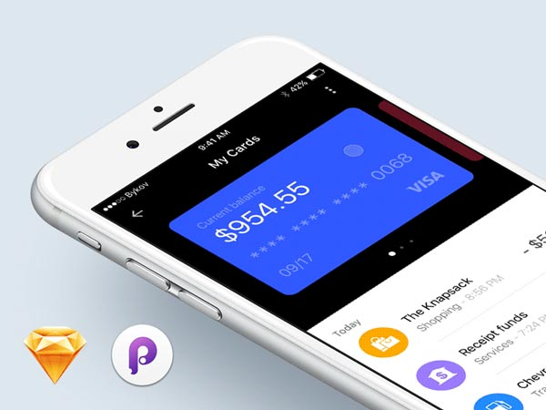Wallet iOS App - Sketch Freebie