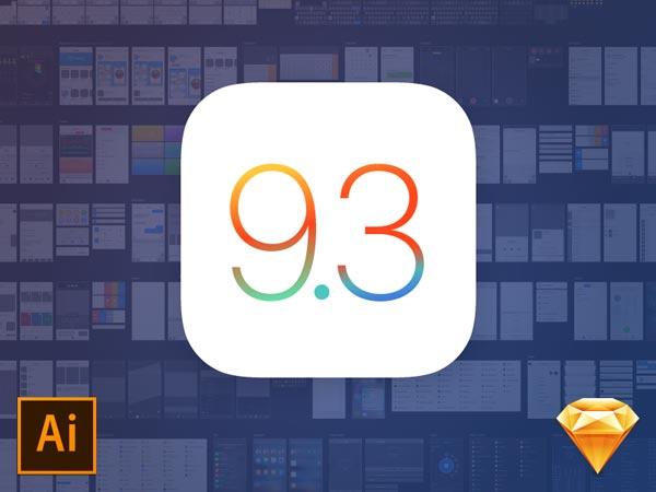 iOS 9.3 UI Kit - Sketch & Illustrator