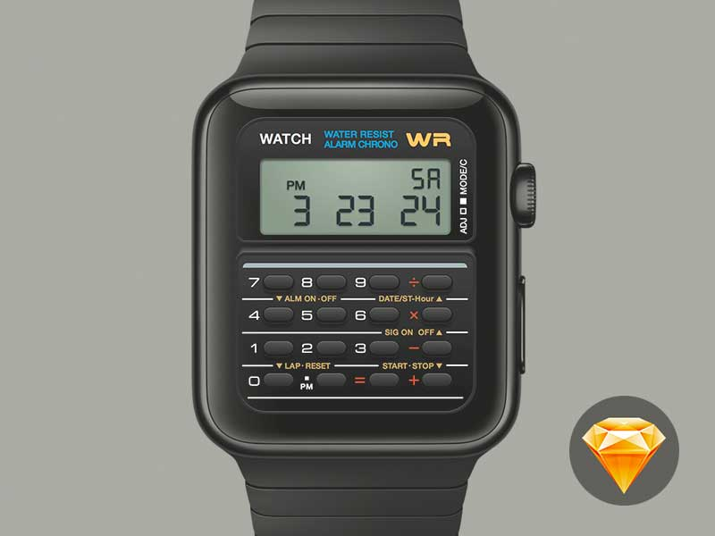Casio Apple Watch - Sketch File
