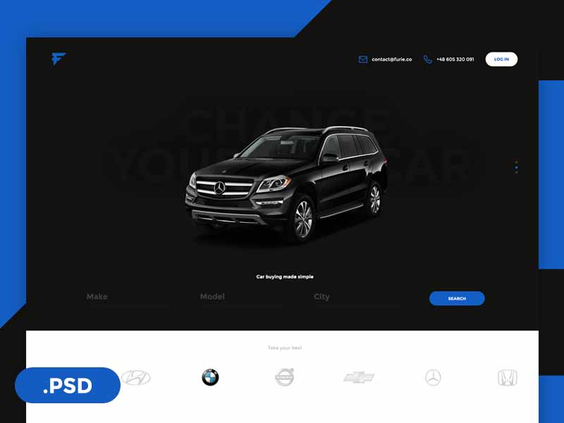 Furie - cars website template