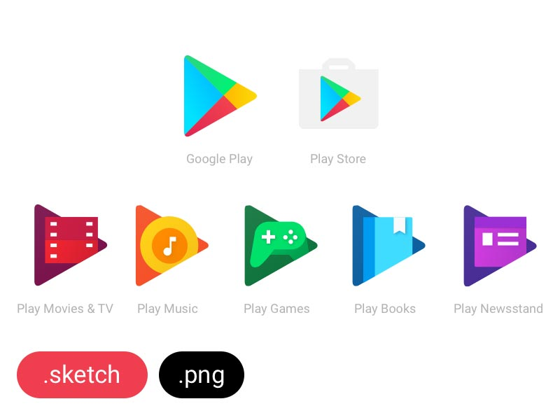 Google Play Family Icons - Sketch Freebie