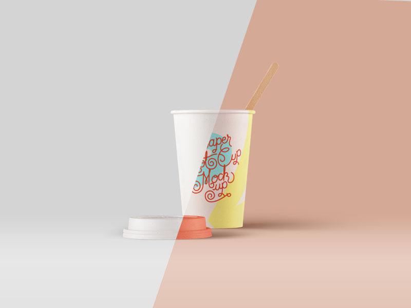 Paper Hot Cup Mockup - PSD