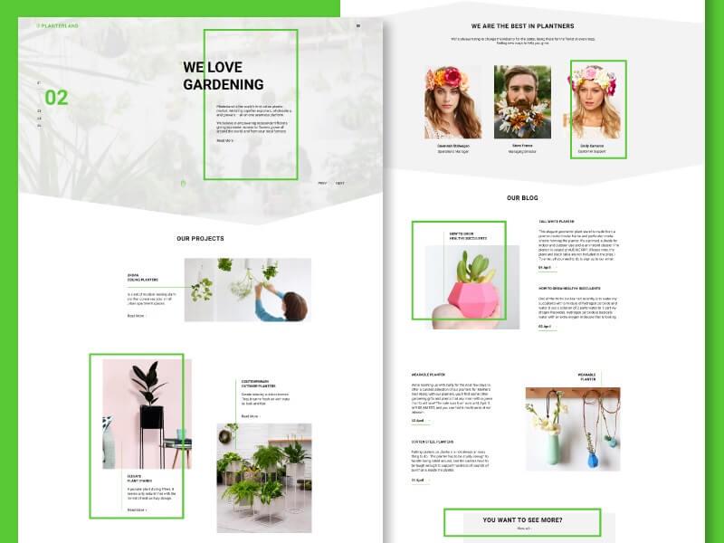 Planterland - Free Website Template