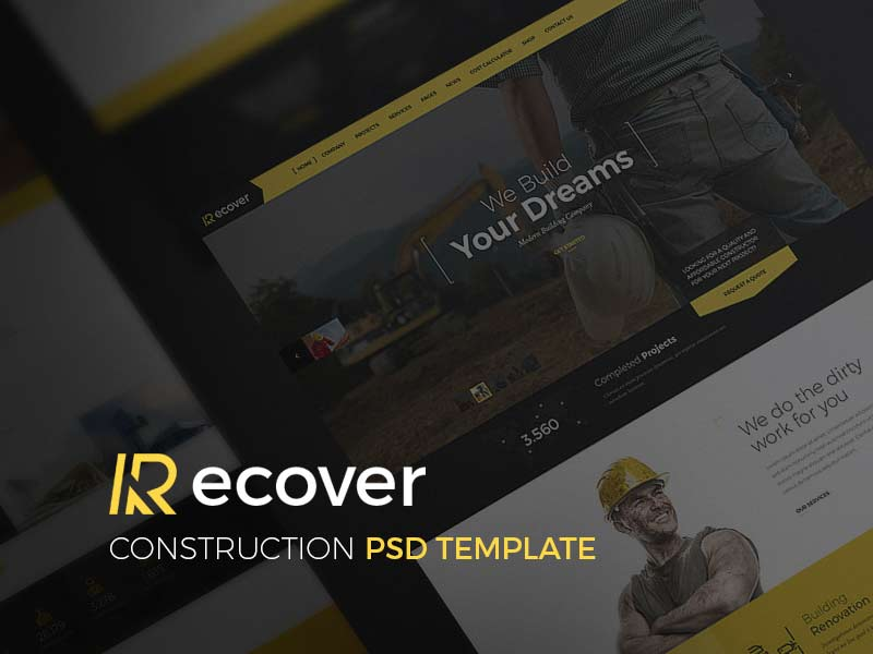 Recover - Construction Website Template