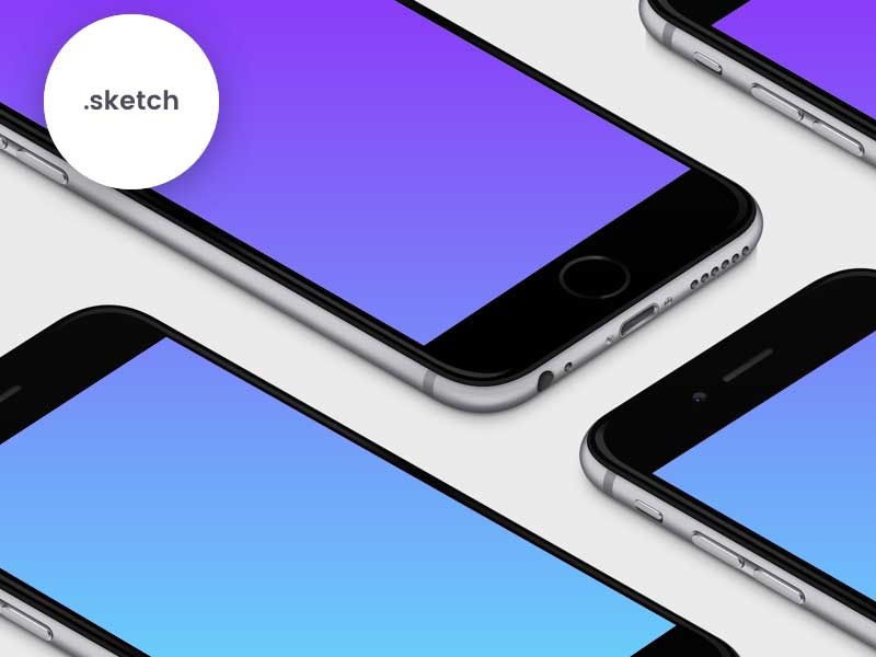 iPhone 6 Mockups - Sketch