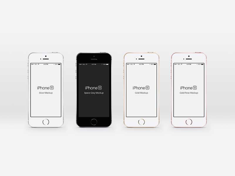 iPhone SE - PSD Mockups