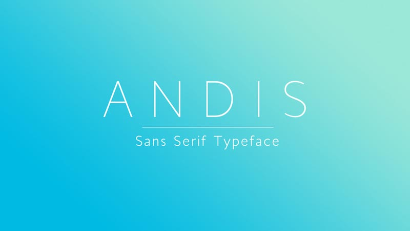 Andis Light - Free Font
