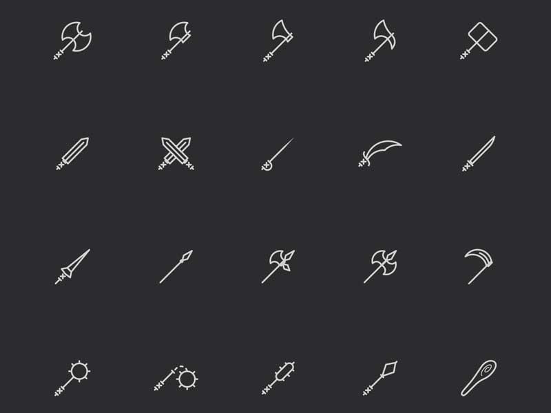 Armoury - Icon Set