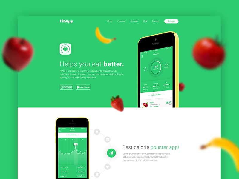 FitApp - Landing Page Template