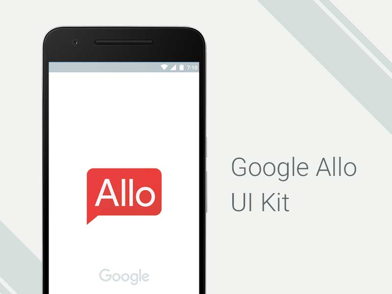 Google Allo - UI Kit