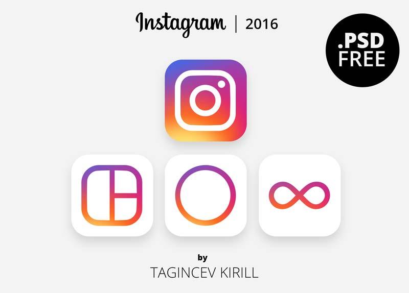 Instagram 2016 Logo - Free PSD